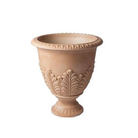 veradek 19 in x 17 in sand fontana urn plastic planter