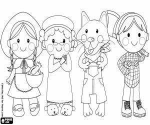 material red riding hood coloring pages printable games