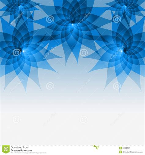 floral abstract blue background with flowers stock