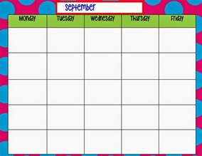 calendar monday through friday calendar template 2016