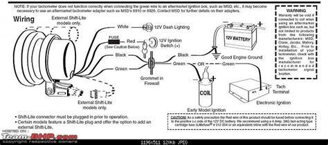 tachometer tach 3 wiring diagram get free image