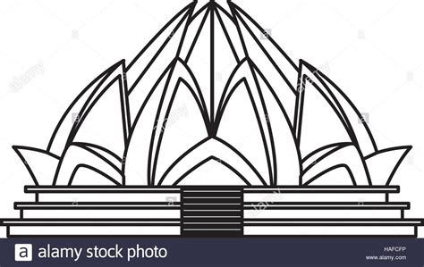architect of lotus temple lotus temple architecture stock vector illustration