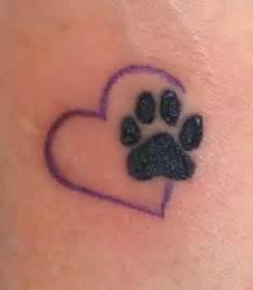 unforgettable heart paw print tattoo on foot 187 tattoo ideas