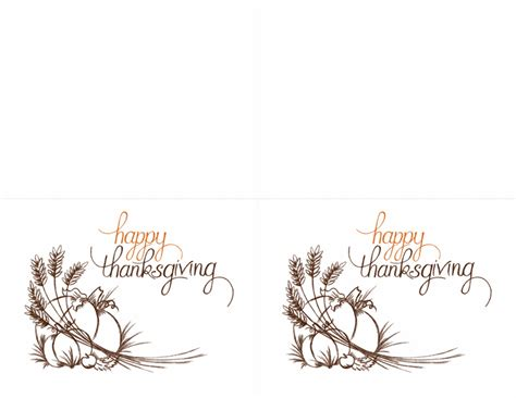 thanks giving cards word template thanksgiving invitations 2 per page for avery 3268