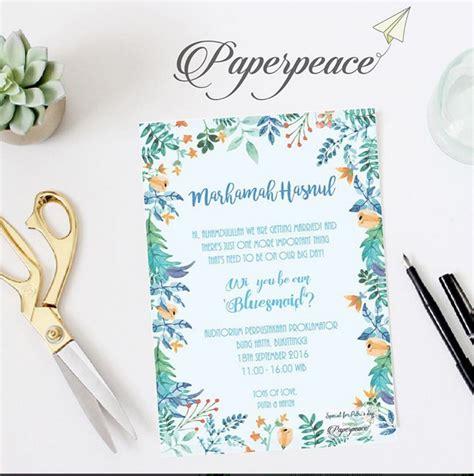 Kartu Bridesmaid Wedding paperpeace blue bridesmaid card