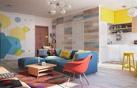 gorgeous home interior design  colorful wall decor