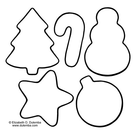 printable christmas decoration templates free printable christmas cookie coloring pages