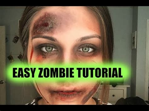 youtube tutorial zombie easy zombie makeup tutorial youtube costumes