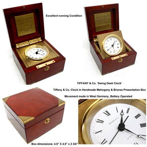 tiffany desk clock battery antique art