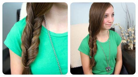 cute girl hairstyles braids youtube 2 minute faux fishtail braid cute girls hairstyles youtube