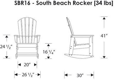 polywoodfurniture gt polywood 174 sbr16 south rocker