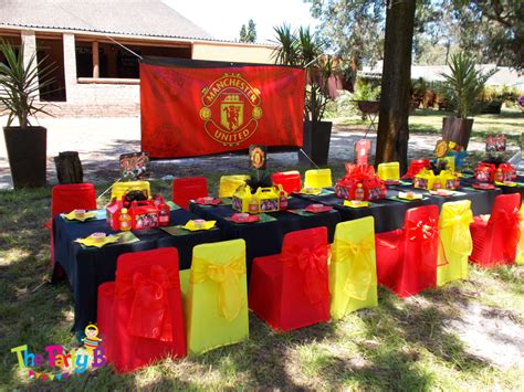 Ideas For Birthday Decorations At Home manchester united themed party cape town the party b