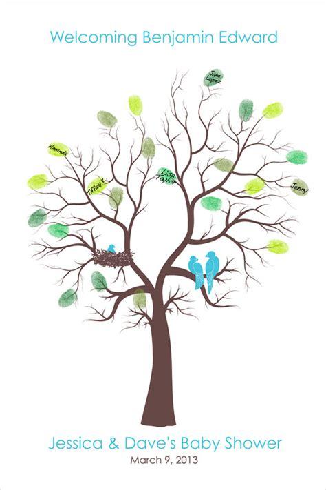 Baby Shower Fingerprint Tree by Personalized Custom Baby Shower Tree Family Tree Thumb Print