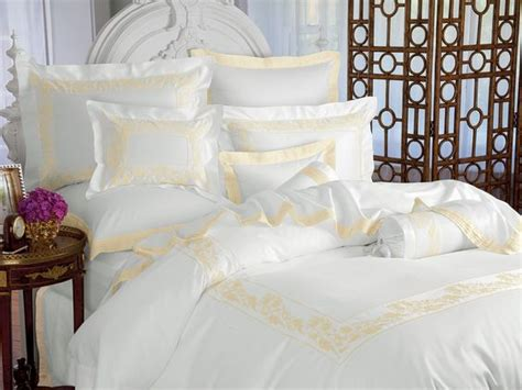 luxury bed linen italian cotton floral motif and white on white on