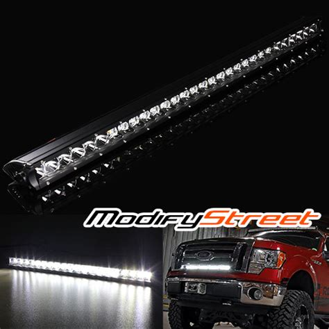 Led Light Bar Ebay 30 Quot 150w 12000 Lumen Cree Led Road Single Row Slim Light Bar Atv 4x4 Truck Ebay