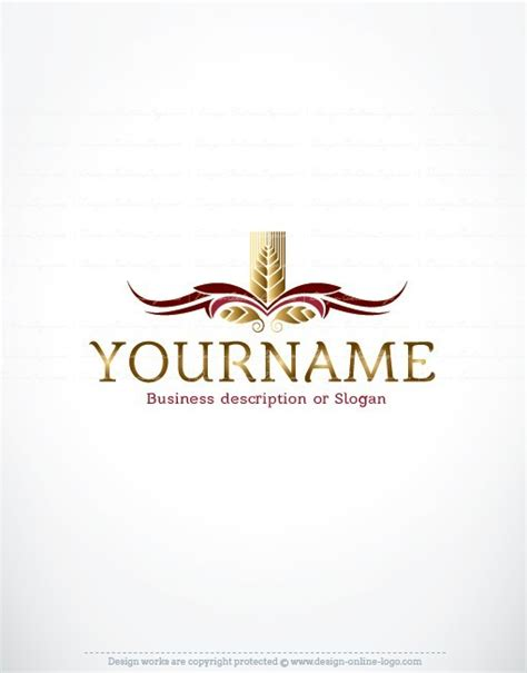 exclusive design wheat bakery logo free business card