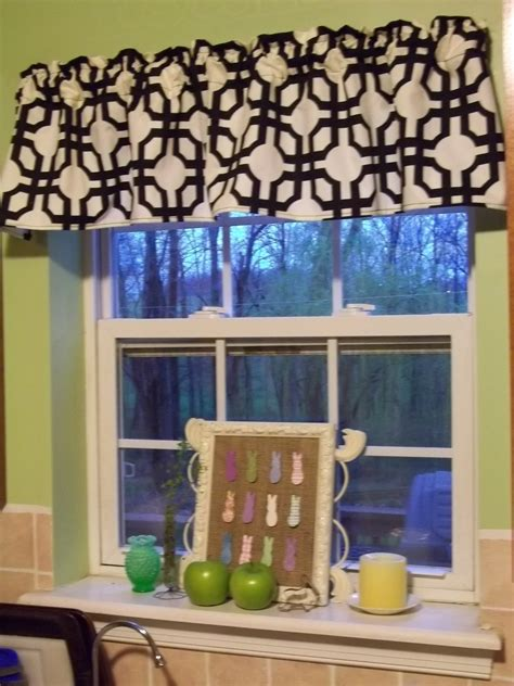 window valance ideas for kitchen easy ideas of diy kitchen window valances the new way