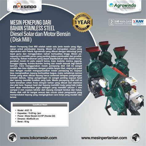 Mesin Giling Tepung Ffc 15 Mesin Bensin Gx 160 5 5 Hp Gilingan mesin pembuat tepung disc mill mesinpertanian mesinpertanian