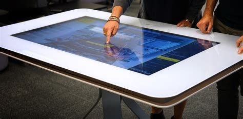 Interactive Meeting Table Nzicc Interactive Touch Table Presentation 55 Inch Touch Screenbuildmedia