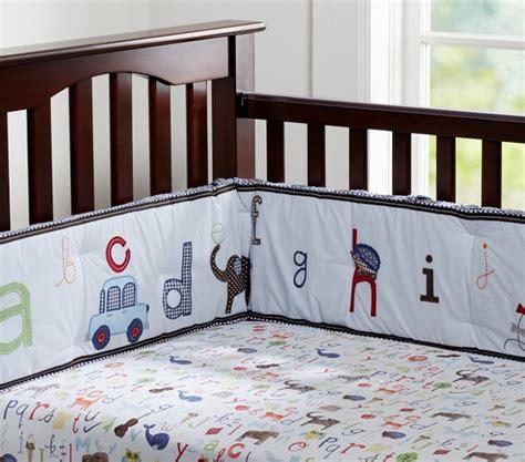 Alphabet Crib Bedding by Animal Alphabet Baby Bedding Set Pottery Barn