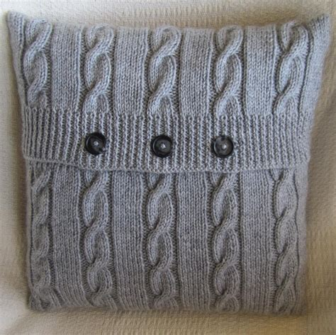 easy knit cushion cover classic cable by ladyship knitting pattern