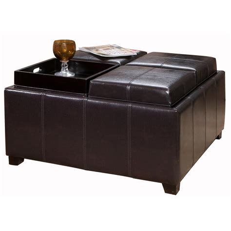 leather ottoman coffee table leather ottoman coffee table design ideas