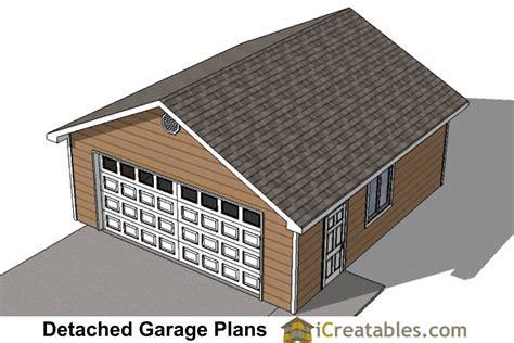 22x24 2 car 1 door detached garage plans 22x26 2 car 1 door detached garage plans