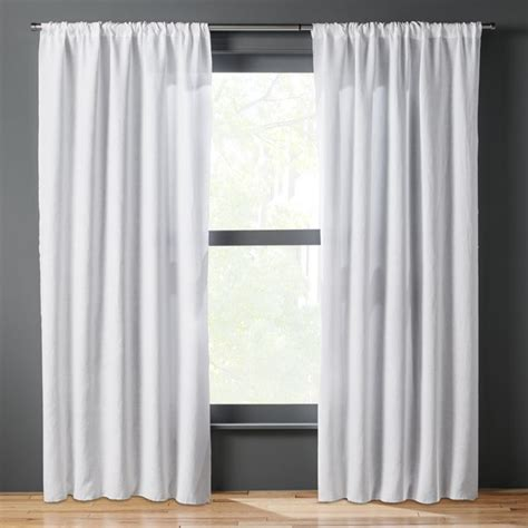 white backed curtains white linen curtains cb2
