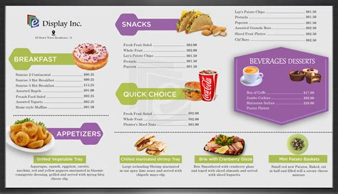digital menu board templates free android digital signage for restaurants healthcare