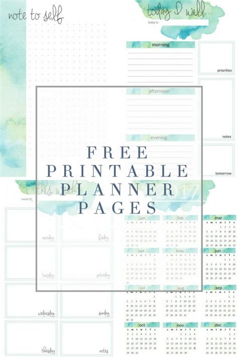 printable planner pages free planner printables the crazy craft lady