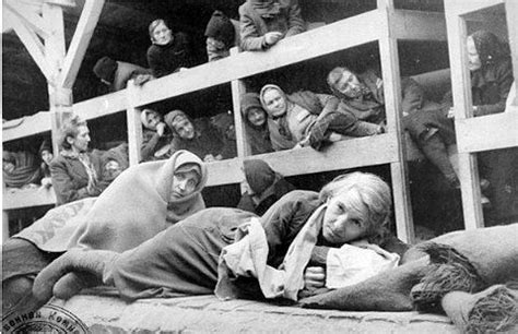 women in liberated auschwitz concentration camp