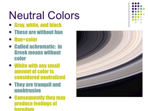 what colors are considered neutral color power point