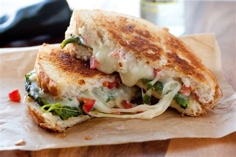 Foot Cl Assy chile relleno grilled cheese sandwich cooking
