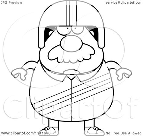 coloring pages race car driver cartoon clipart of a black and white bearded race car