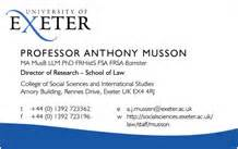 business cards cus services of exeter