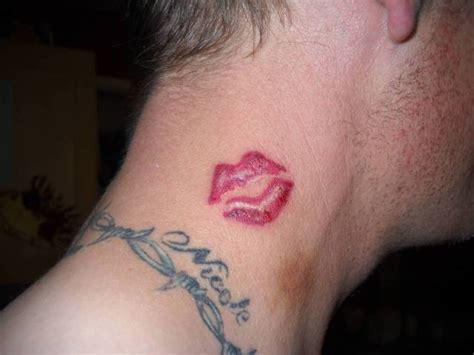 lips tattoo design picture of red lips tattoo