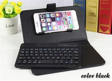 universal mobile phone keyboard cover bluetooth keyboard leather for iphone 6 plus 7 iphone