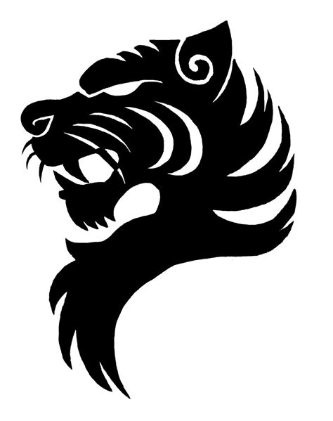 logo black and white tiger logo cliparts co