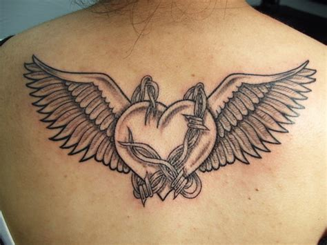 heart with wings tattoos wings images designs