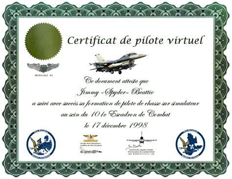 Certificat Modele Gratuit