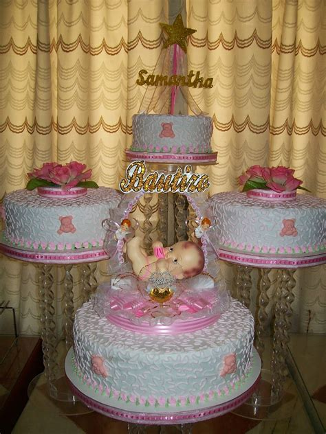como decorar un pastel para niña pastel para bautizo nia bautizo t