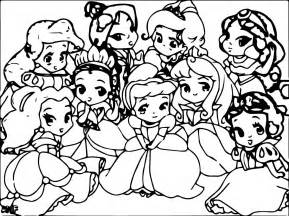 gallery gt disney baby princess coloring pages