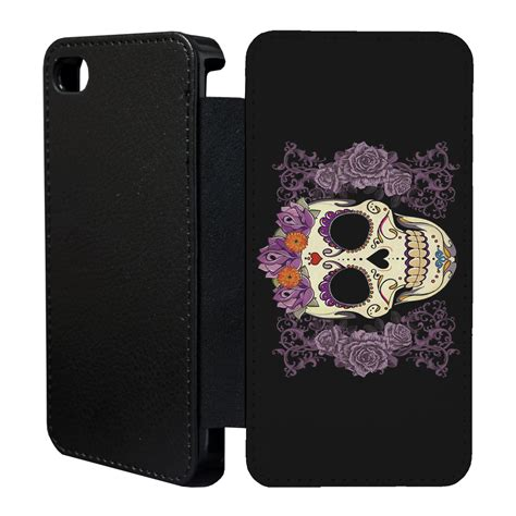 Garskin Iphone 5s Sugar Skull by Sugar Skull Flip Cover For Apple Iphone 4 4s 5 5s 6