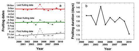b fruiting temperature research progress kunming institute of botany cas