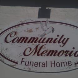 community memorial funeral home funeral services