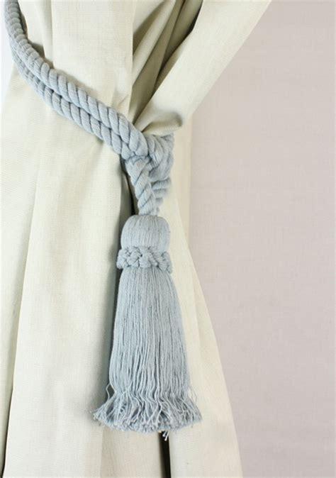 curtain tassel tie backs uk pair cotton tassel rope curtain tiebacks tie backs 12
