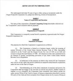 free article of incorporation template articles of incorporation template 7 documents