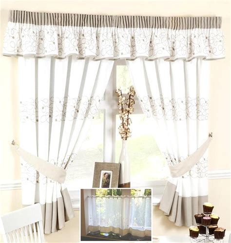 Beige Kitchen Curtains Stunning Beige Kitchen Curtains Including Furniture Decorative 2017 Picture Particular