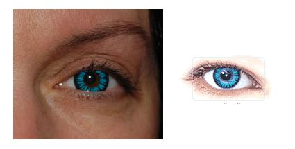 turquoise contacts on dark brown eyes | anexa market