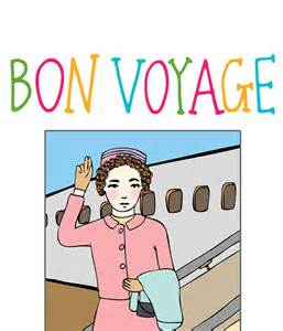 greeting card bon voyage by ableandgame on etsy